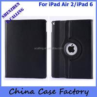 For iPad Air 2/iPad 6 Leather Case, For iPad Air 360 Rotation Case
