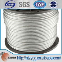 """3/8"""" 1x7 3080lb-WLL Guy Strand Galvanized Carbon Steel Wire Rope"""