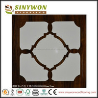 Stone and Wood Together Wood Parquet Flooring For Sale