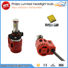 Newsun New arrival Lumileds 90W 9000lm H16E 5202 car led auto headlight bulbs 2015 mini design with fan