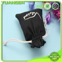 7 Years Export Experience Cheap Bulk Black Cotton Drawstring Bag