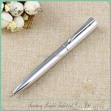 2015 Wholesale factory price small quantity order pen silve logo metal unique wholesale ink pens