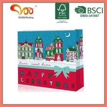 Popular design hot sale christmas tree gift paper bag