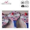 wooden beach paddle ball set with colorful logo printing available