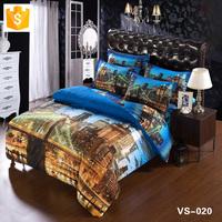 Wholesale bedding set 3D sheets city Scape 3d duvet set