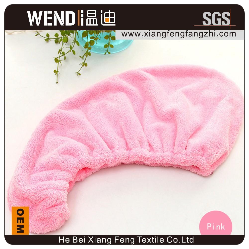 Haute qualit absorment corail polaire sec serviette de cheveux bonnet de douche id de produit for Serviette de toilette haute qualite