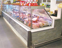 Hot sell shandong factory low price supermarket curved glass door deep freezer with ce