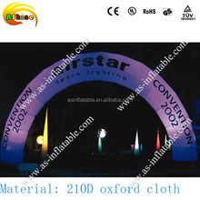 High quality commercial inflatable lighting arch for advertising