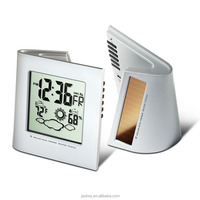 2015 Solar Dual Powered Weather Station Digital Desk Clock with Large digits