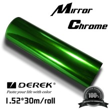Green Mirror Chrome Vinyl With Air Channel
