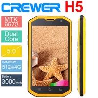 2015 Original CREWER H5 IP68 Smartphone Dustproof Shockproof waterproof Android 4.4 8MP Camera cell phone