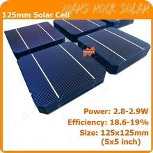 125x125mm high efficiency 5 inch monocrystalline solar cell