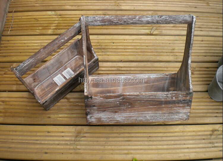 Cute vintage childs small carpenters tool box tray for Small garden tool carrier
