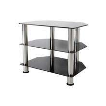 multiple size stainless steel glass TV stand for sale