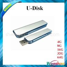 Hot selling transparent swivel rotation USB flash drives 16GB