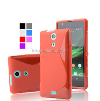 High Quality Soft TPU Gel S line Skin Cover Case For Sony ZR M36H C5502 C5503