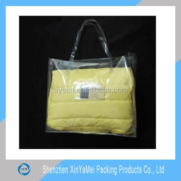 Chegada nova moda de plástico transparente pvc saco de praia por atacado
