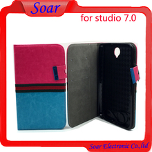 Factory price leather case book for Blu studio 7.0, for Blu studio 7.0 with card slot leather case
