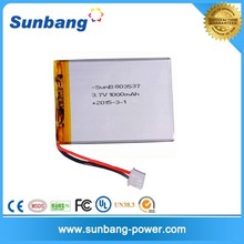 wholesales 8*35*37mm rechargeable 3.7v 1000mah li-polymer battery lithium recycl the battery