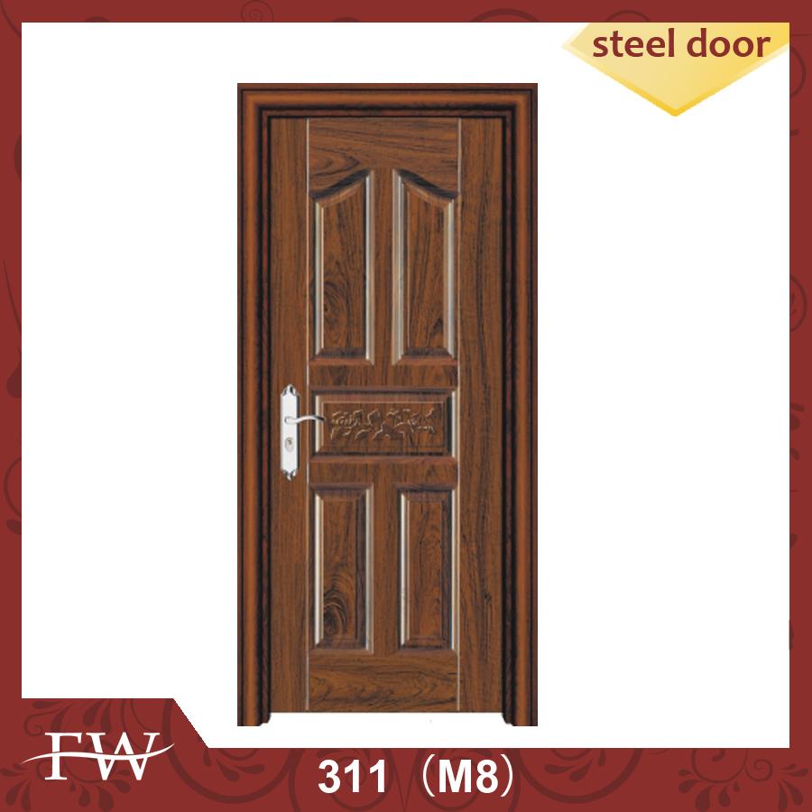 standard size india security door solid frosted glass bedroom door