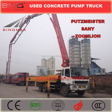 Used/Second Hand Putzmeister/Sany/Zoomlion 37m - 70m Concrete Boom Pump Truck