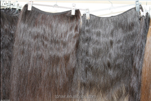 Medium Coarse Hair Wefted Extension, Thick Coarse Natural Human Hair Weft