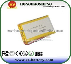 Long life cycle lithium polymer battery 3.7v 1100mah rechargeable rc helicopter battery 354270