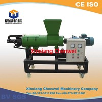 CW Brand 230V 60HZ single phase Stainless steel solid liquid separator for cow dung/chicken manure/pig manure processing
