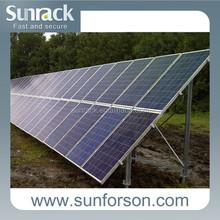 Solar panel mounting bracket, solar ground mounting frames