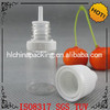 transparent empty 8ml drip vial for nicotine liquid