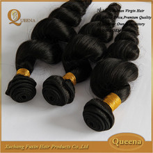Top Grade 100% Unprocessed human hair 7a grade full cuticle loose wave virgin brazilian hair