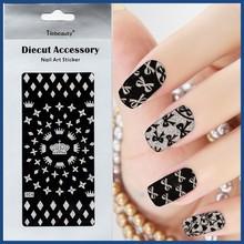 Hot Selling Black Beauty Nail Art Sticker,Diecut Accessory Nail Art
