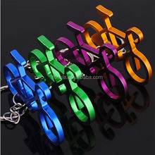 aluminum bicycle shape bottle opener keyring wholesale