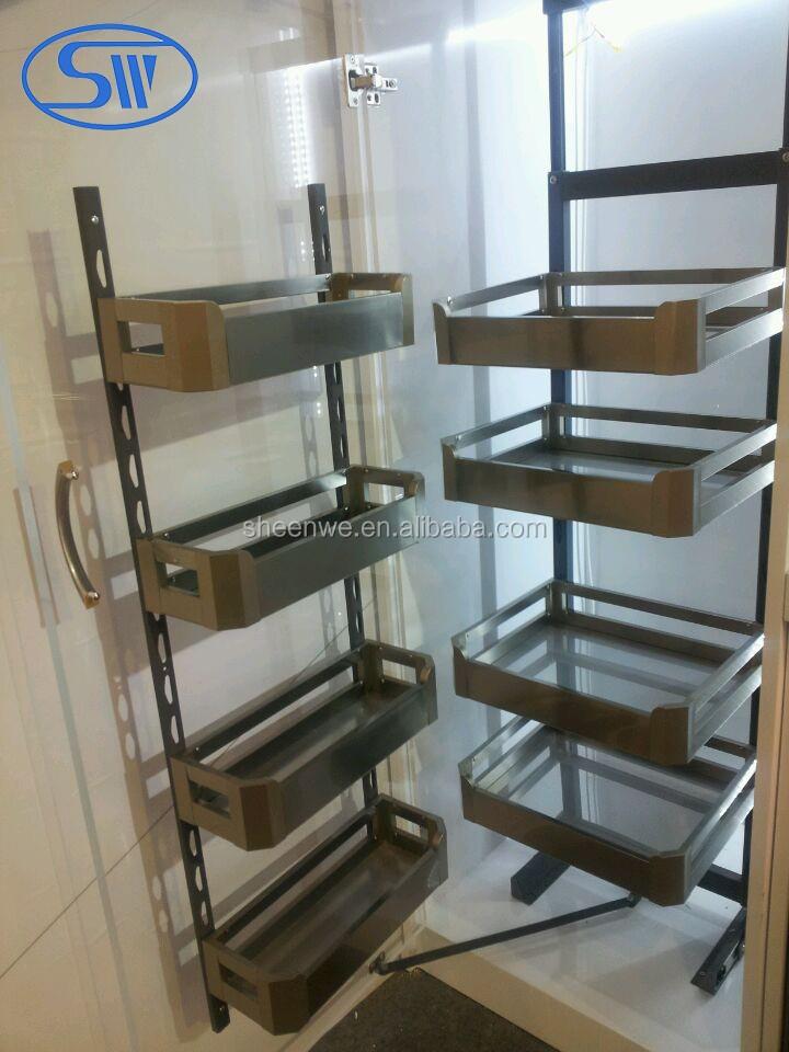 Modern Kitchen Cabinet Stainless Steel Storage Basket Kitchen Cabinet