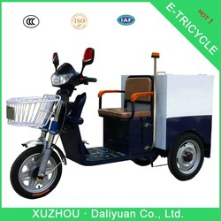 three wheel electric scooter three wheel bike passenger for garbage