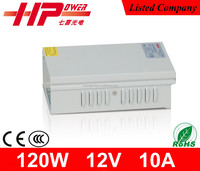 Factory wholesale high efficiency CE ROHS approved high quality120 watt10 ampere 12 volt smps constant current led power driver