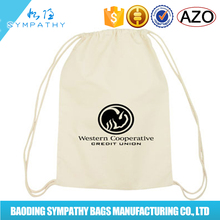 Custom size white eco Drawstring cotton bags From china factory
