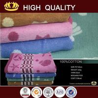 2015 new design wholesale hygroscopic printed bath towel euro