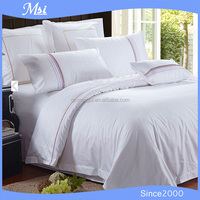 wholesale hotel hand embroidered bed linen bed sheet duvet cover pilloecase set