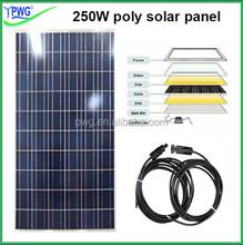 House power solar panel kit 5000w use 20pcs high efficiency polycrystalline solar panel 250W