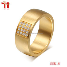 Fashion latest stainless steel jewelry gold engagement finger ring designs for men