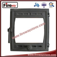Fireplace glass door with good cast iron material