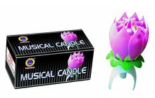Happy birthday flower music candle fireworks