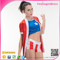 US Flag Two Pieces Sports Wear Costumes
