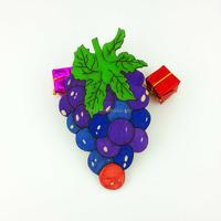 2016Teda CH-001 laser cut MDF DIY Grape Design Paint BOARD for kids