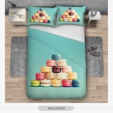 Lovely cute design 3D macarons printed children bedding sets