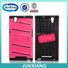 Tuff Hard Stand PC Gel Rubber Plastic Case For ZTE Z970 China Wholesale