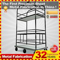 kindle 2014 new durable folding professional customized flatbed shopping carts for sale