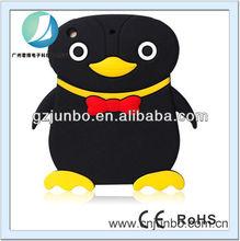 hot sale soft colorful cute penguin silicon case for ipad mini