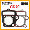 Top Quality CD70 Motorcycle Gaskets for Cylinder, CD70 Cylinder Head Gasketss, Gaskets for Motorcycle Cylinder Kits!